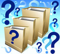 Free Packages With Question Royalty Free Stock Photography - 5235857