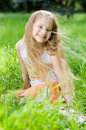 Free Little Girl In Perfect Green Grass Stock Photos - 5239943