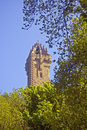 Free Scottish Tower And The Tree Royalty Free Stock Photos - 5239998