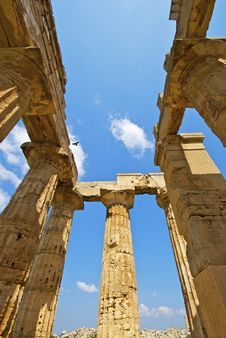 The Temple Of Selinunte Stock Image