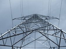 Free Pole Of High Tension Royalty Free Stock Photography - 5230137