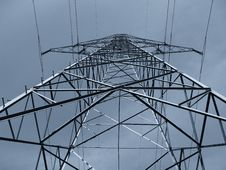 Pole Of High Tension Royalty Free Stock Photography