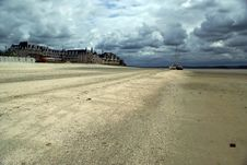 Free Empty Beach In France Stock Photography - 5231432