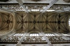 Free Abstract Picture Of Ceiling In French Church Stock Photo - 5231450