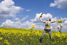 Free Girl Enjoying Spring Royalty Free Stock Photography - 5231867