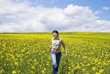 Free Girl Enjoying Spring Stock Image - 5231881