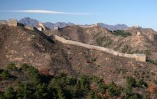 Trekking On Great Wall. Royalty Free Stock Photos