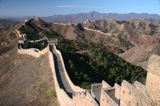 Free Trekking On Great Wall. Royalty Free Stock Photo - 5231975