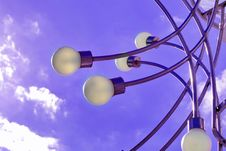 Free Street Lamps Over Sky Background Stock Photography - 5232002