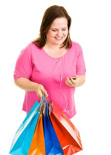 Free Shopping And Tunes Royalty Free Stock Image - 5232086