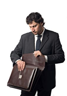 Free Businessman Suitcase Stock Images - 5232814