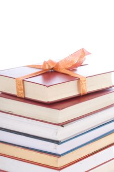 Free Books In Gift Packing Isolated On A White Stock Image - 5232891