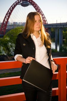 Free The Young Businesswoman With A Folder Royalty Free Stock Photos - 5232958