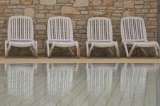Free White Plastic Seats Stock Photo - 5232990