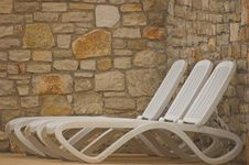 Free White Plastic Seats Royalty Free Stock Photo - 5232995