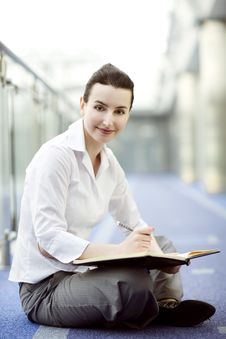 Businesswoman With Calendar Stock Photo