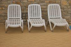 Free White Plastic Seats Stock Photo - 5233020