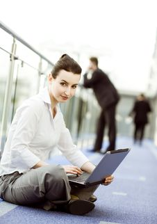 Businesswoman With Notebook Royalty Free Stock Photography
