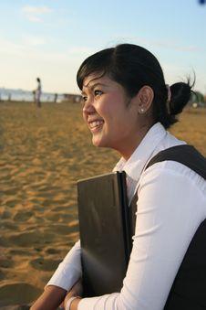 Free Business Woman At Sunset Stock Photos - 5233673