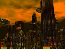 Free Futuristic Sity Stock Images - 5234124
