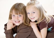 Free Two Sisters Posing - Horizontal Royalty Free Stock Photo - 5235235