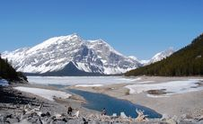 Free Alpine Lake And Mountain Royalty Free Stock Image - 5235336