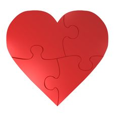 Free Red Heart Puzzle Stock Image - 5235341