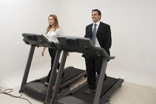 Free Businesspeople On Treadmill - Horizontal Stock Photos - 5235393