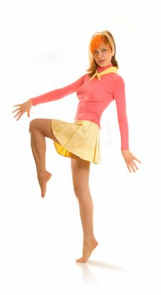 Free Dancing Young Woman 2 Stock Photos - 5236043
