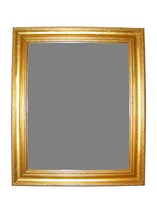 Free Blank Gold Picture Frame Royalty Free Stock Images - 5236089