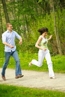 Free Beautiful Couple In A Park Stock Photo - 5236120