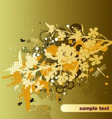 Free Floral Background Royalty Free Stock Photography - 5236257