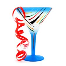 Free Blue Glass Of Champagne Royalty Free Stock Photography - 5236287