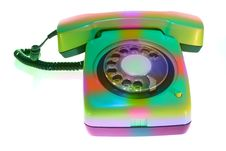 Free Old Colorful Telephone Royalty Free Stock Photography - 5236317