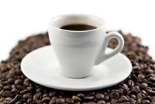 Free Classic White Espresso Cup Stock Image - 5236951