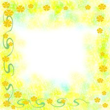 Free Sunny Tropic Frame Royalty Free Stock Photos - 5237048