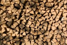 Free Woodpile Background Yellow Stock Images - 5237124