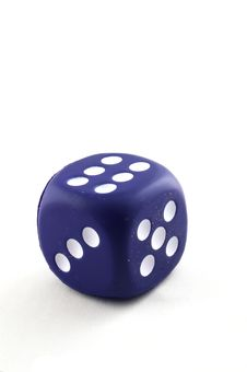 Single Big Dice Royalty Free Stock Photo
