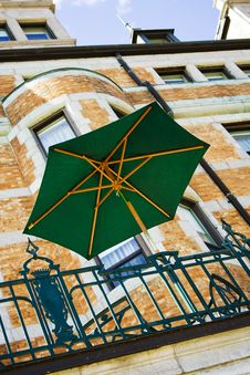 Chateau Frontenac Umbrella Royalty Free Stock Image