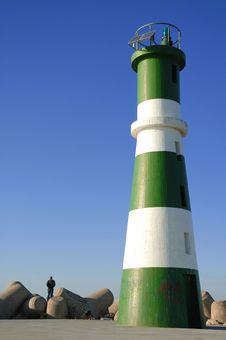 Free Lighthouse With Blue Sky Royalty Free Stock Images - 5238209