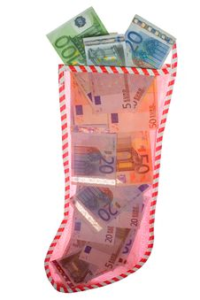 Free Christmas Stocking - Euros Stock Photo - 5238420
