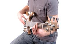 Free Detail Of A Man Playing Bass Royalty Free Stock Photography - 5238597