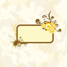 Free Floral Frame Royalty Free Stock Photography - 5238717