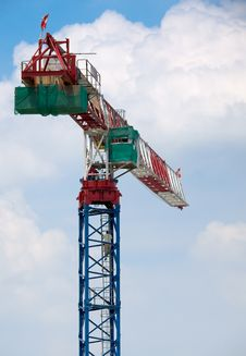 Free Tower Crane Operator Ascending Royalty Free Stock Image - 5239316