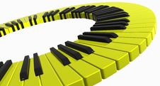 Free Yellow Piano Ring Stock Image - 5239631