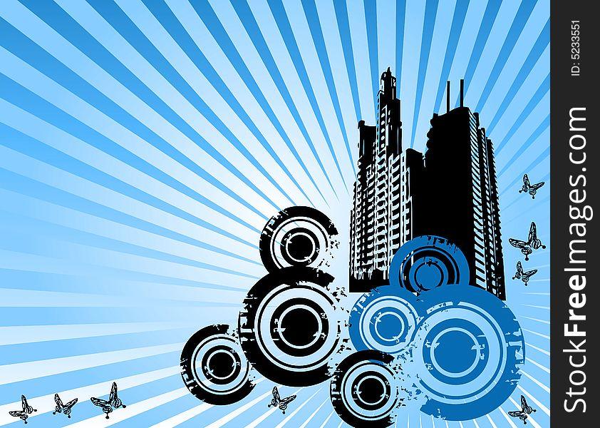 Abstract skyscraper