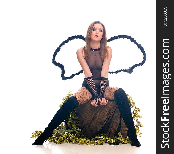 Beautiful Young Girl With Angel Wings Free Stock Images Photos