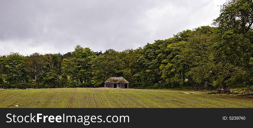 Ploughed field,Sutherland,Scotland,UK