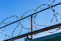 Free Barbed Wire Against The Sky Stock Photography - 52385682