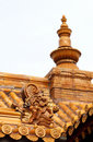 Free Exquisite Eaves Of Temple. Stock Image - 5240941